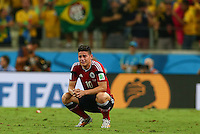 James Rodriguez of Colombia in tears at full time following his sides elimination from the World Cup