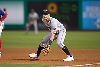 Lakeland Flying Tigers first baseman Jimmy Kerr (8) during a game against the Clearwater Threshers on May 5, 2021 at BayCare Ballpark in Clearwater, Florida.  (Mike Janes/Four Seam Images)