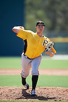 Pittsburgh Pirates pitcher Dovydas Neverauskas (77) during an Instructional League Intrasquad Black & Gold game on September 20, 2016 at Pirate City in Bradenton, Florida.  (Mike Janes/Four Seam Images)