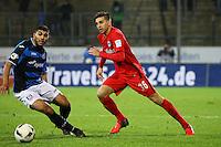 Furkan Zorba (Eintracht Frankfurt) gegen Shawn Barry (FSV Frankfurt)- 10.11.2016: FSV Frankfurt vs. Eintracht Frankfurt, Frankfurter Volksbank Stadion
