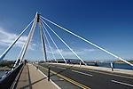 Southport - pier, waterfront, Marine Way Bridge, sunset, beach
