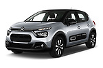 2020 Citroen C3 Shine 5 Door Hatchback Angular Front automotive stock photos of front three quarter view