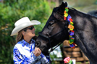 Connie Bender and her horse Blue<br />