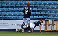 Billy Mitchell of Millwall celebrates his goal by doing press ups during Millwall vs Bristol City, Sky Bet EFL Championship Football at The Den on 1st May 2021