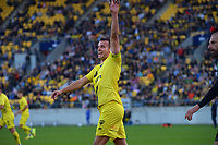 Wellington's Steven Taylor in action during the A-League football match between Wellington Phoenix and Western United FC at Sky Stadium in Wellington, New Zealand on Saturday, 22 May 2021. Photo: Dave Lintott / lintottphoto.co.nz