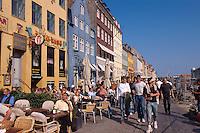 Daenemark, auf dem Nyhavn in  Kopenhagen