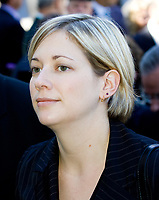 Stock photo of Catherine Morissette, a politician and lawyer from Quebec, Canada, and the Action dÈmocratique du QuÈbec (ADQ) Member of the National Assembly for the electoral district of Charlesbourg.<br /> <br /> PHOTO :  Francis Vachon - Agence Quebec Presse