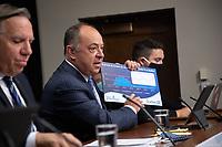 Le cabinet Legault durant la crise du COVID 19, 15 sept 2020<br /> <br /> Christian Dube , ministre de la sante