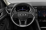 Car pictures of steering wheel view of a 2021 JEEP Grand-Cherokee-L Limited 5 Door SUV Steering Wheel