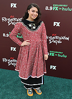 """TULSA, OK - AUGUST 2: Devery Jacobs attends the Red Carpet Event for the Series Premiere of FX's """"Reservation Dogs"""" at Circle Cinema on August 2, 2021 in Tulsa, Oklahoma. (Photo by Tom Gilbert/FX/PictureGroup)"""