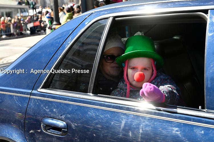 Defile de la Saint-Patrick, 19 mars 2017<br /> <br /> PHOTO : Agence Quebec Presse