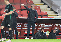Ryan Lowe manager of Plymouth Argyle during Charlton Athletic vs Plymouth Argyle, Emirates FA Cup Football at The Valley on 7th November 2020