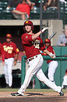 Blake Lacey #26 of the Southern California Trojans bats against the Oregon State Beavers at Dedeaux Field on May 23, 2014 in Los Angeles, California. Southern California defeated Oregon State, 4-2. (Larry Goren/Four Seam Images)