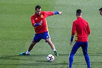 Spainsh Serio Busquets during the training of the spanish national football team in the city of football of Las Rozas in Madrid, Spain. November 09, 2016. (ALTERPHOTOS/Rodrigo Jimenez) ///NORTEPHOTO.COM