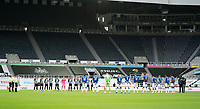 1st November 2020; St James Park, Newcastle, Tyne and Wear, England; English Premier League Football, Newcastle United versus Everton;  A minute silence is observed for the passing of Nobby Stiles of Man United and England