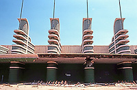 Los Angeles: Pan-Pacific Auditorium--frontal elevation.  Photo '82.