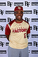 Brent Williams (12) of Hammond High Magnet School in Hammond, Louisiana during the Baseball Factory All-America Pre-Season Tournament, powered by Under Armour, on January 12, 2018 at Sloan Park Complex in Mesa, Arizona.  (Mike Janes/Four Seam Images)