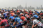 The peloton during Stage 4 the Emirates NBD Stage of the UAE Tour 2020 running 173km from Dubai Zabeel Park to Dubai City Walk, Dubai. 26th February 2020.<br /> Picture: LaPresse/Fabio Ferrari | Cyclefile<br /> <br /> All photos usage must carry mandatory copyright credit (© Cyclefile | LaPresse/Fabio Ferrari)