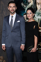 """HOLLYWOOD, CA - DECEMBER 02: Aiden Turner, Sarah Greene arriving at the Los Angeles Premiere Of Warner Bros' """"The Hobbit: The Desolation Of Smaug"""" held at Dolby Theatre on December 2, 2013 in Hollywood, California. (Photo by Xavier Collin/Celebrity Monitor)"""
