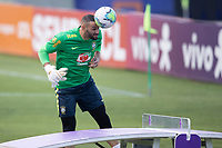 7th October 2020; Granja Comary, Teresopolis, Rio de Janeiro, Brazil; Qatar 2022 qualifiers; Weverton of Brazil during training session