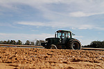 A tractor preparing the dirt before the 1st race at Oaklawn Park in Hot Springs, AR 1-11-13. (Justin Manning/Eclipse Sportswire)