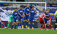 Joe Pritchard of Accrington Stanley freekick hits the wall during AFC Wimbledon vs Accrington Stanley, Sky Bet EFL League 1 Football at The Kiyan Prince Foundation Stadium on 3rd October 2020