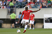 PHILADELPHIA, PENNSYLVANIA - JUNE 30: Gyasi Zardes #9 during the 2019 CONCACAF Gold Cup quarterfinal match between the United States and Curacao at Lincoln Financial Field on June 30, 2019 in Philadelphia, Pennsylvania.