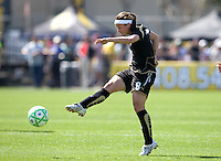Tiffany Weimer shoots on goal. .FC Gold Pride defeated the Boston Breakers 2-1 at Buck Shaw Stadium in Santa Clara, California on April 5th, 2009.
