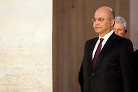 Barham Salih<br /> Rome January 24th 2020. Palazzo Chigi. The Italian Premier meets the President of the Republic of Iraq.<br /> Foto Samantha Zucchi Insidefoto