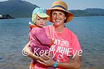 Enjoying Fenit beach on Saturday, l to r: Sadbh and Sue O'Neill from Ballymac.