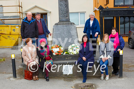 Laying wreaths at the memorial for Volunteer Tadhg O'Sullivan Rathmore who was killed by the RIC in Cork City on 19th April 1921 on Sunday were front row l-r: Noreen Curran, Anne O'Shea, Breda O'Leary and MAggie McAulliffe Back row: Padraig McCarthy Dr Tim Horgan NGA and Maura Fitzgerald and Rose Maloney