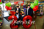 Byrne Spar Oakpark, celebrating 20 years in business at the shop on Friday. Kneeling l to r: Louis Byrne and Collette O'Sullivan. Standing l to r: Debbie O'Halloran (Store Manager) and Julianne Fitzgerald (General Manager)
