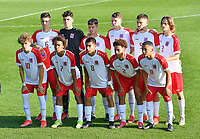 players of Luxemburg pictured posing for the teampicture during a soccer game between the national teams Under17 Youth teams of  Norway and Luxemburg on day 2 in the Qualifying round in group 3 on saturday 9 th of October 2020  in Tubize , Belgium . PHOTO SPORTPIX   DAVID CATRY