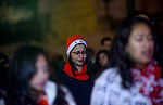 Egyptian Christians pray during a New Year's Eve mass, at Kasr el-Dobara evangelical Church, in Cairo, Egypt on December 31, 2017. Photo by Amr Sayed