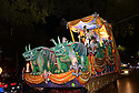 The Krewe D'Etat parade and its satirical float The Dictator rolls in New Orleans on Friday, Feb. 24, 2017. (AFP/CHERYL GERBER)