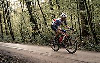 Jasper Stuyven (BEL/Trek-Segafredo) over the Plugstreets<br /> <br /> 82nd Gent-Wevelgem in Flanders Fields 2020 (1.UWT)<br /> 1 day race from Ieper to Wevelgem (232km)<br /> <br /> ©kramon