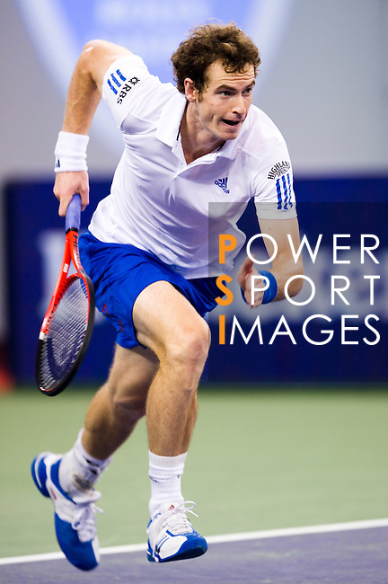 SHANGHAI, CHINA - OCTOBER 14:  Andy Murray of Great Britain in action during his match against Jeremy Chardy of France during day four of the 2010 Shanghai Rolex Masters at the Shanghai Qi Zhong Tennis Center on October 14, 2010 in Shanghai, China.  (Photo by Victor Fraile/The Power of Sport Images) *** Local Caption *** Andy Murray