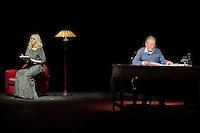 Mylene DEMONGEOT - Jean PIAT - Filage de la piece LOVE LETTERS le 13 janvier 2017 - Comedie des Champs Elysees Paris - France