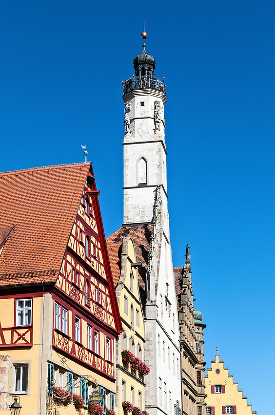 The Rathausturm, or town hall tower, of Rothenburg