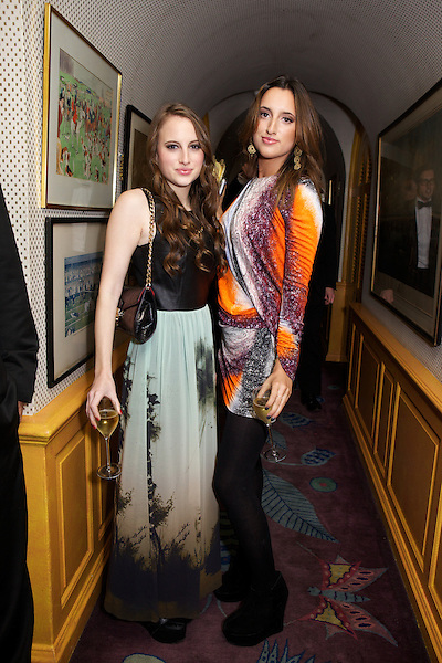 Rosie Fortescue from Made in Chelsea and her sister Lily Fortescue at Annabel's Club for The Tatler Little Black Book Party, London, sister