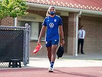 CLEVELAND, OH - SEPTEMBER 14: Catarina Macario of the United States walks onto the field during a training session at the training fields on September 14, 2021 in Cleveland, Ohio.