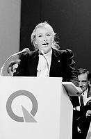 FILE PHOTO : Pauline Marois  lors du vote final de la course ‡ la chefferie du Parti QuÈbÈcois, le 29 septembre 1985<br /> <br /> PHOTO : Denis Alix -  Agence Quebec Presse
