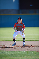 Konni Durschlag (2) of Mallard Creek High School in Charlotte, North Carolina during the Baseball Factory All-America Pre-Season Tournament, powered by Under Armour, on January 13, 2018 at Sloan Park Complex in Mesa, Arizona.  (Mike Janes/Four Seam Images)