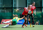 China vs Brazil during the Day 2 of the IRB Women's Sevens Qualifier 2014 at the Skek Kip Mei Stadium on September 13, 2014 in Hong Kong, China. Photo by Aitor Alcalde / Power Sport Images