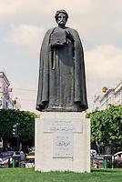 Tunis, Tunisia.  Statue of Ibn Khaldun, Tunisian Historian and Philosopher.