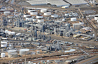 aerial of refinery
