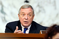 United States Senate Minority Whip Dick Durbin (Democrat of Illinois), speaks before the Senate Judiciary Committee on the fourth days of hearing on Supreme Court nominee Amy Coney Barrett, Thursday, Oct. 15, 2020, on Capitol Hill in Washington.<br /> Credit: Susan Walsh / Pool via CNP /MdeiaPunch