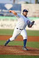 April 16, 2009:  Starting Pitcher Ryan Searle of the Daytona Cubs, Florida State League Class-A affiliate of the Chicago Cubs, during a game at Jackie Robinson Stadium in Daytona Beach, FL.  Photo by:  Mike Janes/Four Seam Images