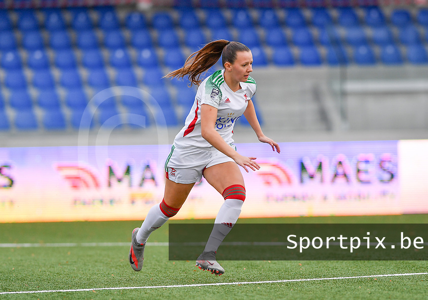 OHL's Hannah Eurlings pictured during a female soccer game between Club Brugge Dames YLA and Oud Heverlee Leuven on the 8 th matchday of the 2020 - 2021 season of Belgian Scooore Womens Super League , saturday 21 th November 2020  in Knokke , Belgium . PHOTO SPORTPIX.BE | SPP | DAVID CATRY
