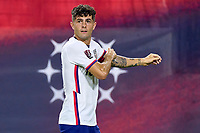5th September 2021; Nashville, TN, USA;  United States forward Christian Pulisic (10) as he adjusts his Captains arm band during a CONCACAF World Cup qualifying match between the United States and Canada on September 5, 2021 at Nissan Stadium in Nashville, TN.